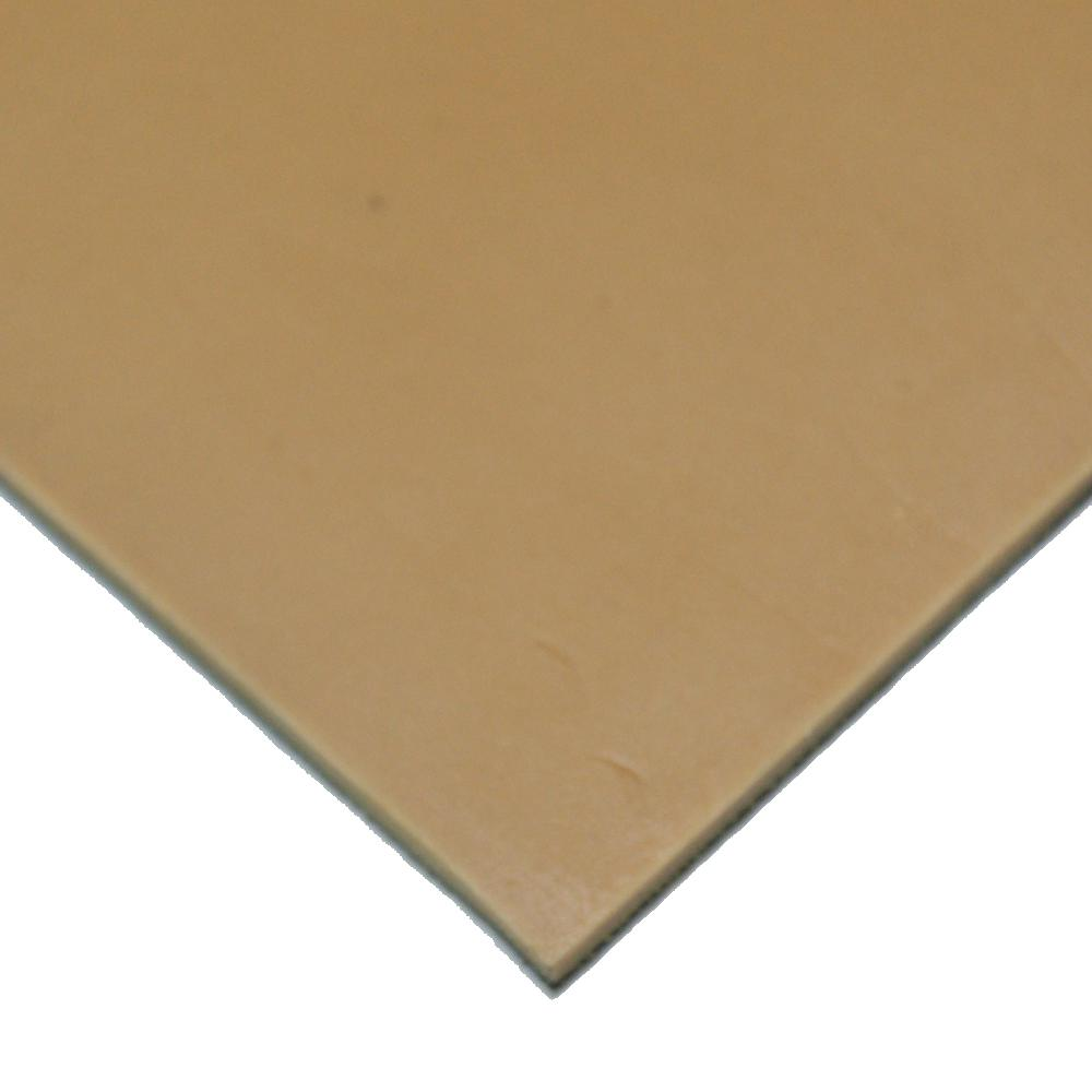 Pure Gum Rubber 1/4 in. x 8 in. x 8 in. Tan Commerical Grade 40A Rubber Sheet