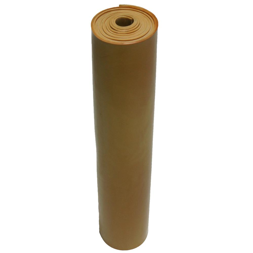 Pure Gum Rubber 3/16 in. x 36 in. x 120 in. Tan Commercial Grade 40A Rubber Sheet