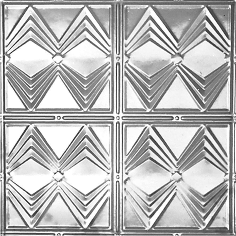 2 ft. x 2 ft. Lay-in Suspended Grid Tin Ceiling Tile in Bare Steel (24 sq. ft. / case)