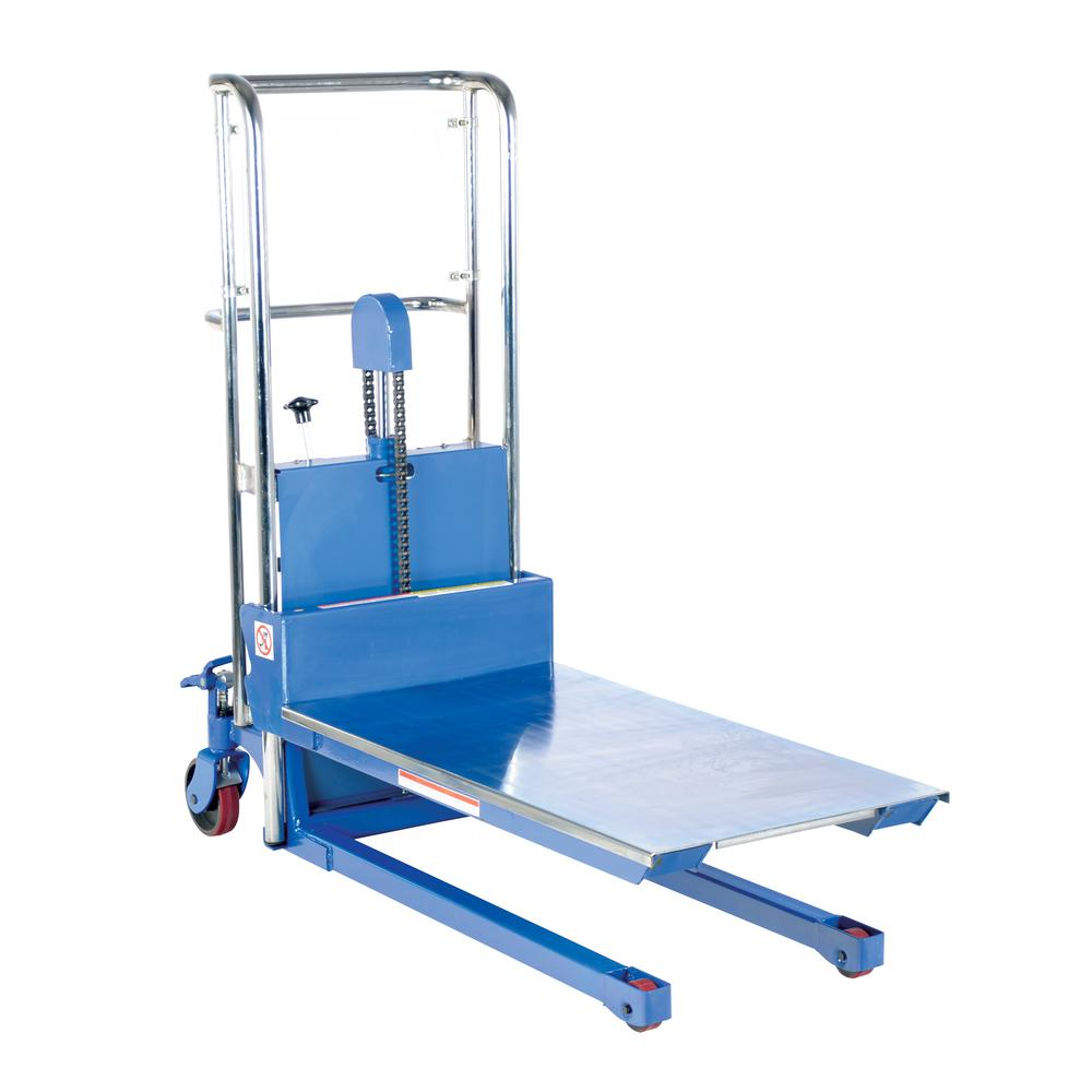 55 in. x 36 in. x 23 in. Foot Pump Steel Hefti-Lift with E in. x tended Platform