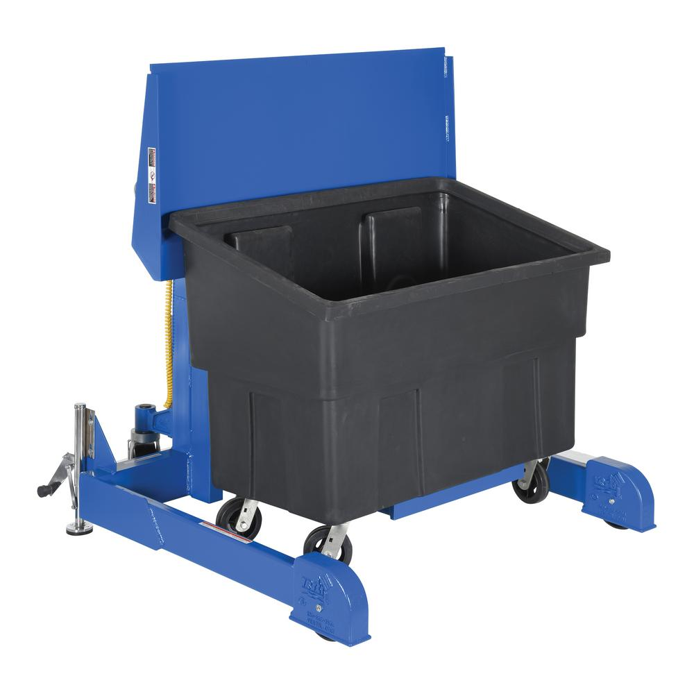 600 lb. Capacity 72 in. Polyethylene Multi-Purpose Tote Dumper